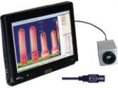 Small and fast infrared camera – mobile or stationary used - to detect weaknesses at injection moulds
